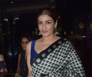 Actress Raveena Tandon seen at yautcha bkc.