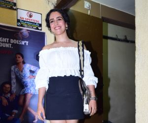 Actress Sanya Malhotra at Screening of Angrezi Medium in pvr juhu