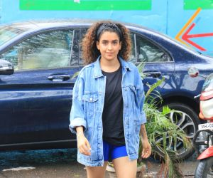 Actress Sanya Malhotra spotted at andheri