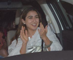Actress Sara Ali Khan seen at pvr juhu.