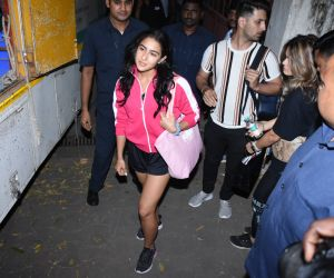 Actress Sara Ali Khan spotted at bandra