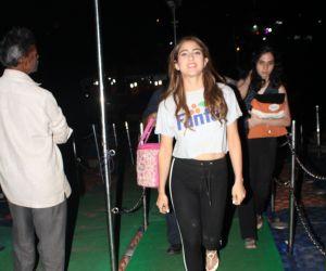Actress Sara Ali khan spotted versova jetty