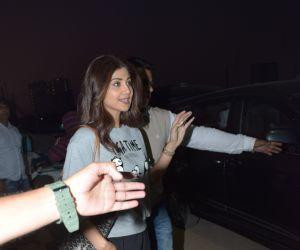 Actress Shilpa Shetty seen at Madh Jetty.
