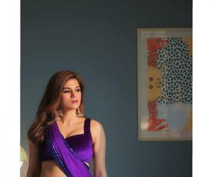 Actress Shraddha Das during the Photoshoot