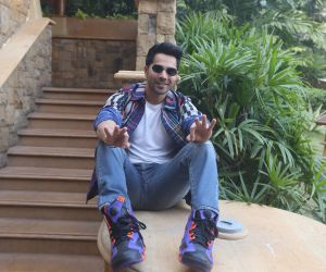 Actor Varun Dhawan at jw marriott for the promotions of film Street Dancer.
