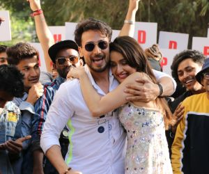 Actress Shraddha Kapoor and tiger Shroff at Baaghi 3 promotions in sunny sound juhu