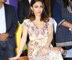 Actress Soha Ali Khan Attend Function of Voot kids app Launch.