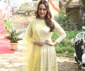 Actress Sonakshi Sinha During the promotions of film Dabangg3