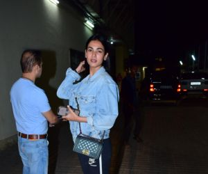 Actress Sonal Chauhan seen at pvr Juhu