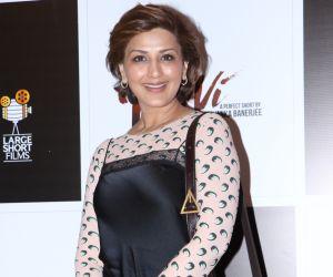 Actress Sonali Bendre at screening of movie Devi