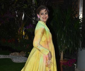 Actress Sonali Bendre celebrate Isha Ambani's Holi Party at her residence in worli