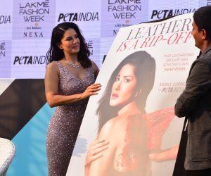 Actress Sunny Leon at  Lakme Fashion Week Day 2 celebs