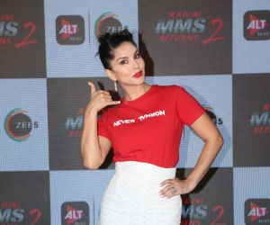 Actress Sunny Leone at the launch of Ragini MMS 2 returns at andheri.