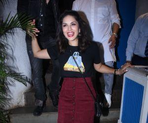 Actress Sunny Leone attend Raza Beig's birthday party at olive bandra