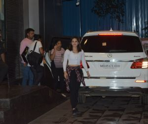 Actress Sunny Leone seen aT Juhu