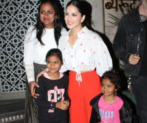 Actress Sunny Leone seen at juhu.