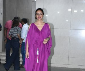 Actress Tabu at  Salman Khan birthday party.