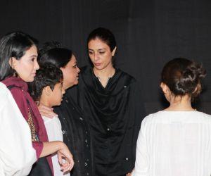 Actress Tabu Attend Prayers Meet of Shabana Azmi Mom.