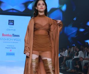 Actress Tamannaah Bhatia walks on ramp at Bombay Times Fashion Week 2020