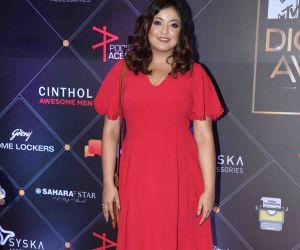 Actress Tanushree Dutta at MTV- IWMBuzz Digital Awards 2019 in Mumbai