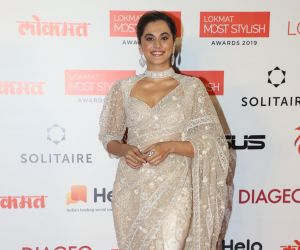 Actress Tapsee Pannu During the Star Studded 4th Edition Of Lokmat Most Stylish Awards