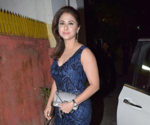 Actress Urmila Matondkar attend Javed Akhtar birthday party at juhu.