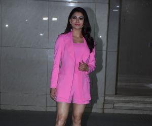 Actress Urvashi Rautela at  Salman Khan birthday party.