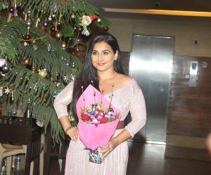 Actress Vidya Balan celebrates her birthday.