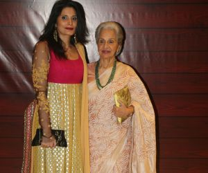 Actress Waheeda Rehman  at Javed Akhtar's Birthday.