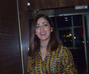 Actress Yami Gautam During Special screening of Bala for media persons at andheri