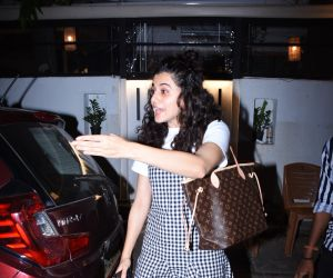 Actress Taapsee Pannu  at hotel izumi in bandra