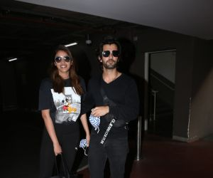 Aditya Seal and Anushka Ranjan Spotted At Airport