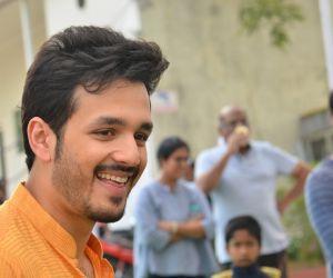 Akhil-Venky new movie launch photos