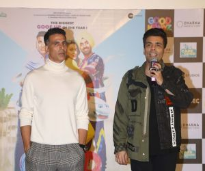 Akshay Kumar and Karan Johar Attend Trailer launch of New Film Good Newwz at Cinepolis