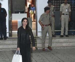 Actress Madhuri Dixit seen at airport in Kalina