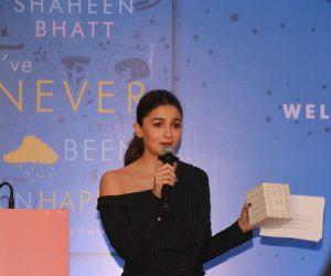 Actress Alia Bhatt at Book launch 'I've Never Been (UN) happier' by Shaheen Bhatt.
