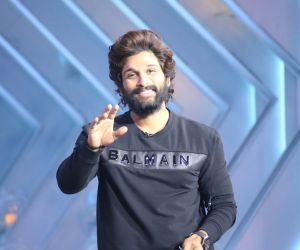 Allu Arjun from the sets of SamJam