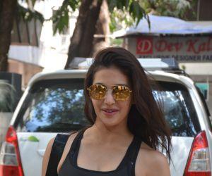 Amayra Dastur spotted at gym bandra