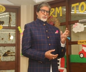 Amitabh Bachchan at the Ndtv Banega Swasth India at juhu