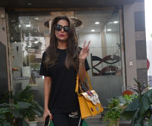 Amrita Arora spotted at a salon in bandra