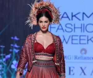 Actress Amyra Dastur  On Ramp In L F W 2020