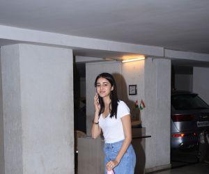 Ananya panday spotted at Karan Johar's house in bandra