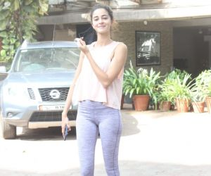 Ananya Panday Spotted Gym