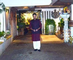 Anil Kapoor  Pose For Media At Karva Chauth Puja At his home