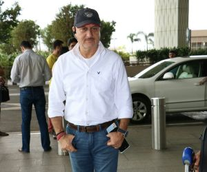 Anupam Kher Spotted At Airport
