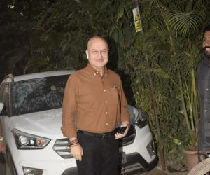 Anupam Kher Spotted At Physioflex Gym