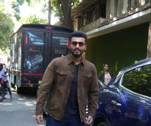 Actor Arjun Kapoor in promotion of his film Sandeep aur Pinky Faraar at andheri