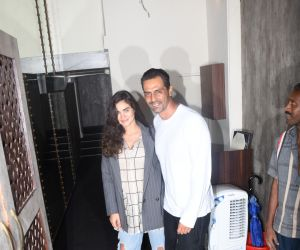 Arjun Rampal and Gabriella spotted at bastian bandra