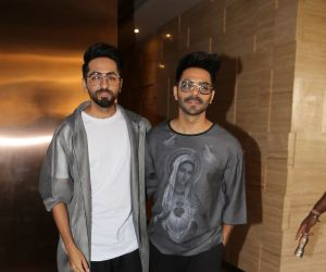 Ayushman and Aparshakti Khurana spotted at jw mariott juhu