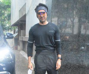 Ayushman Khurana spotted at bandra
